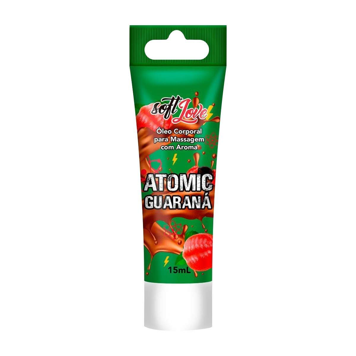 Extreme Atomic Guaraná Excitante Comestível 15 ml Soft Love