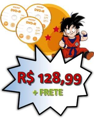 Dragon Ball Goku Pequeno + Dragon Z + GT + Kai (Completo 46 DVDs) Pack Econômico