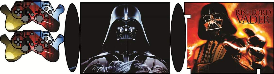 Skin Ps3 Super Slim - Mod. 27 Darth Vader