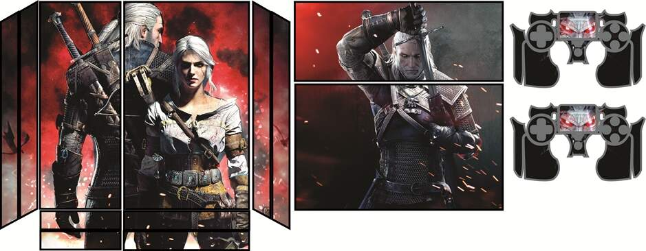 Skin Ps4 - Mod. 24 THE WITCHER
