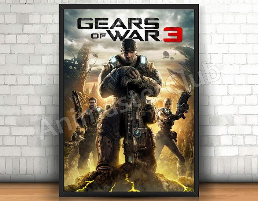Quadro 31x46cm - Gears Of War