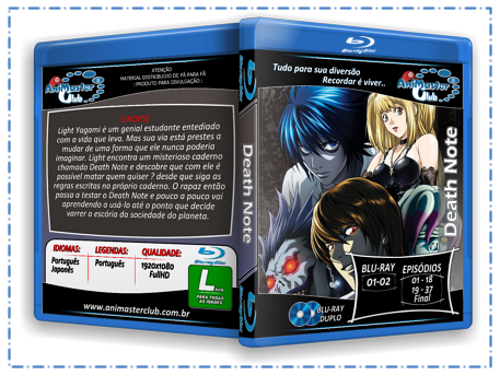 Death Note - (Blu-ray 02 Discos) Completo!