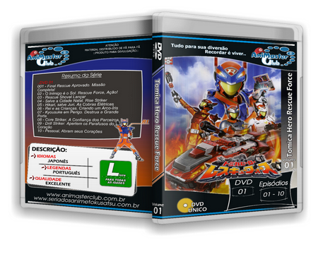 Tomica Hero Rescue Force (Completo 05 DVDs)