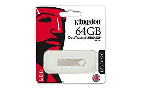 Pen Drive 64GB Kingston SE9 G2 USB 3.0 Prata