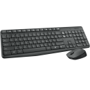 Kit Teclado e Mouse Logitech Wireless Mk235 Preto