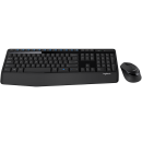 Kit Teclado e Mouse Logitech Wireless MK345 Preto
