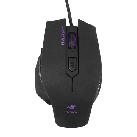 Mouse C3Tech Gamer MG-100BK HARPY 3200DPI  USB