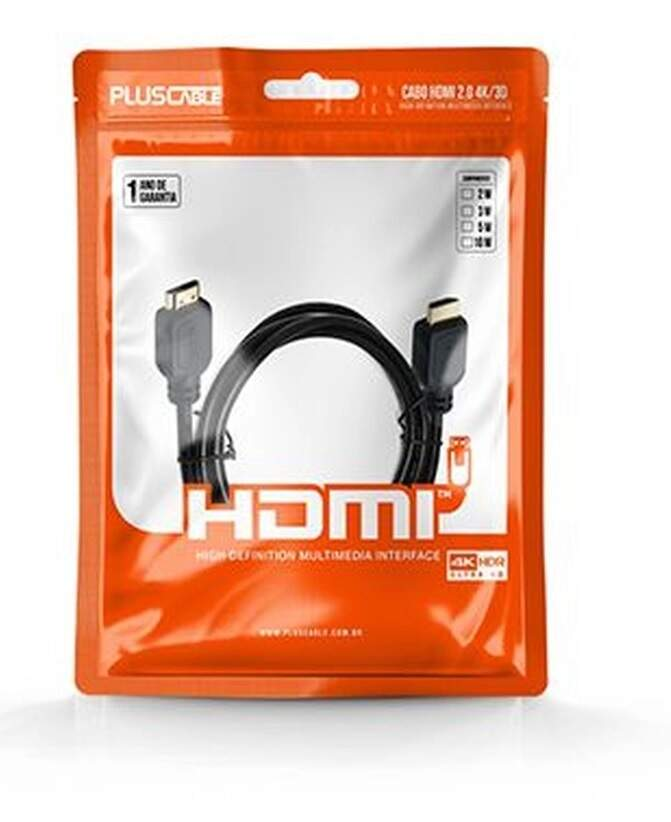 Cabo HDMI 2.0 PlusCable Ultra HD 4K 3D 3mts