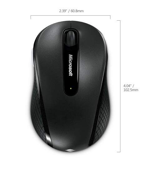 Mouse Microsoft Wireless Mobile 4000 - Preto