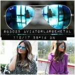 RB3025 Aviator Large Metal 112 / 17 Green Mirror Blue