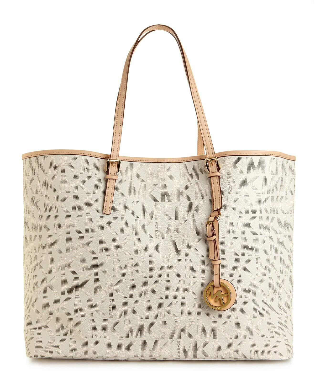 Michael Kors Handbag, Jet Set Travel Medium Tote Vanilla