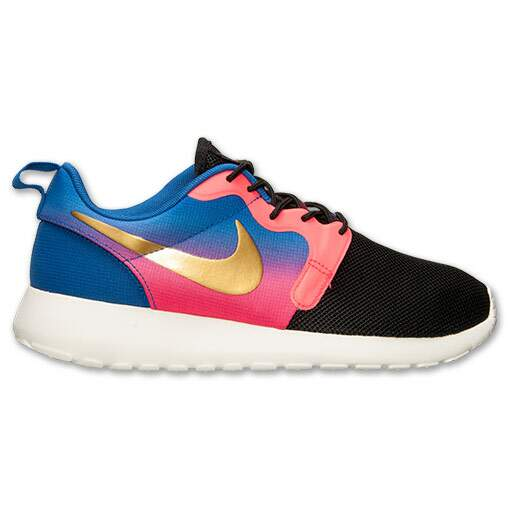 Roshe Run Hyperfuse Premium Black / Metallic Gold Coin / Hyper Punc Feminino