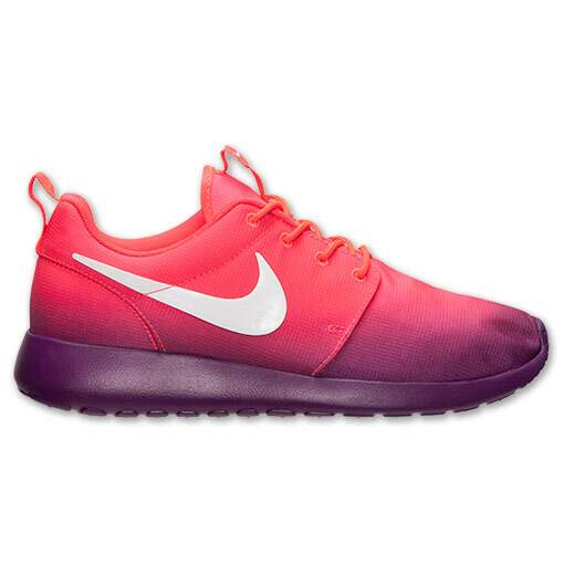 Roshe Run Print Laser Crimson / Bright Grape / White Feminino