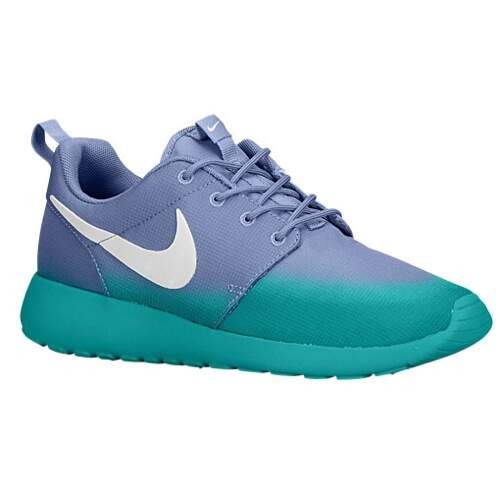 Roshe Run Print Iron Purple / Turbo Green / White Feminino