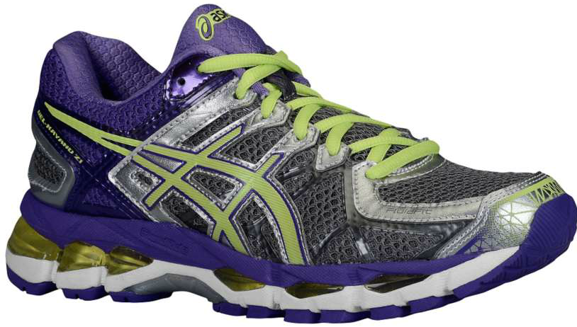 Gel Kayano 21 Charcoal / Sharp Green / Purple Feminino