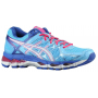 Gel Kayano 21 Powder Blue / White / Hot Pink Feminino