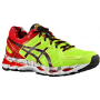 Gel Kayano 21 Electric Lime / Black / Red Heat NYC Marathon Masculino