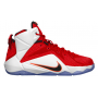 LeBron 12 University Red / Hyper Crimson / White / Black Infantil