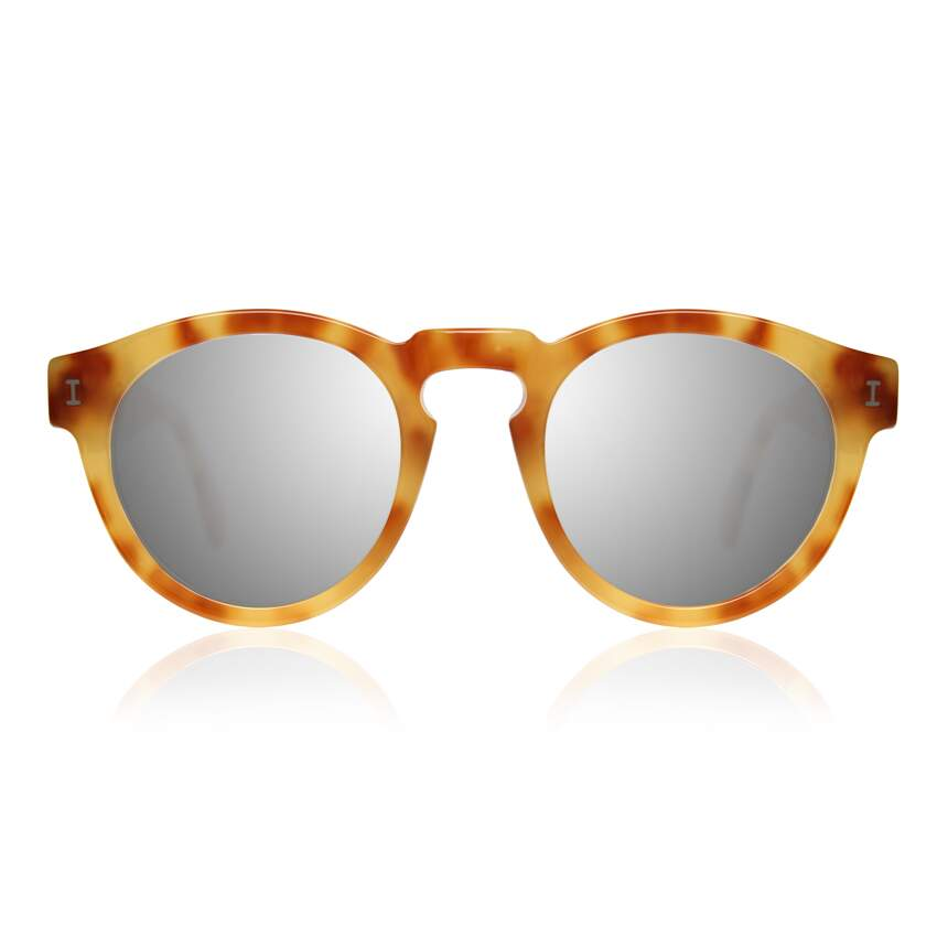Leonard Amber with Silver Mirrored Lenses