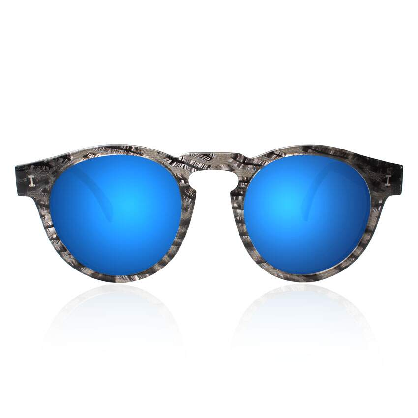 Leonard Black Frost with Blue Mirrored Lenses