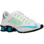 Shox Superfly R4 White / Metallic Silver / Flash Lime / Clearwater Feminino