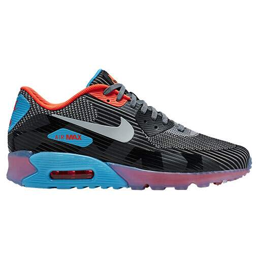 Air Max 90 Knit Jacquard Ice Dark Grey / Wolf Grey / Black / Blue Legion Masculino