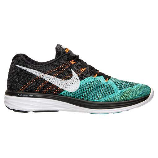 Flyknit Lunar 3 Black / White / Hyper Jade / Total Orange Masculino