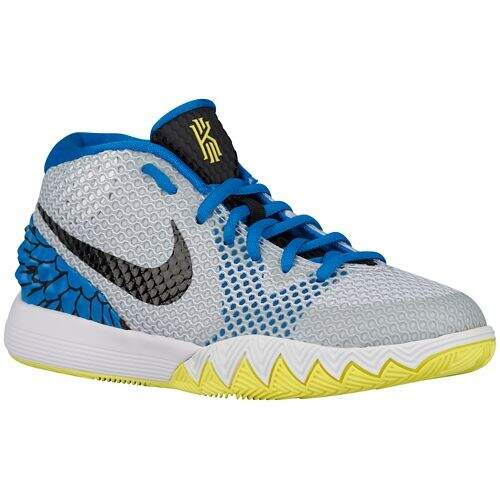 Kyrie 1 White / Black / Lt Vint Yellow / Lt Photo Blue Eagles Infantil