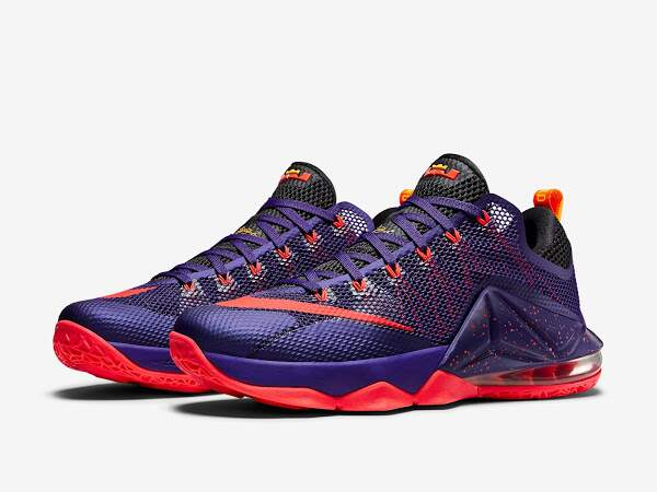 LeBron 12 Court Purple / Cave Purple / Laser Orange Masculino