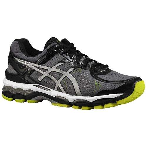 Gel Kayano 22 Charcoal / Silver / Lime Masculino