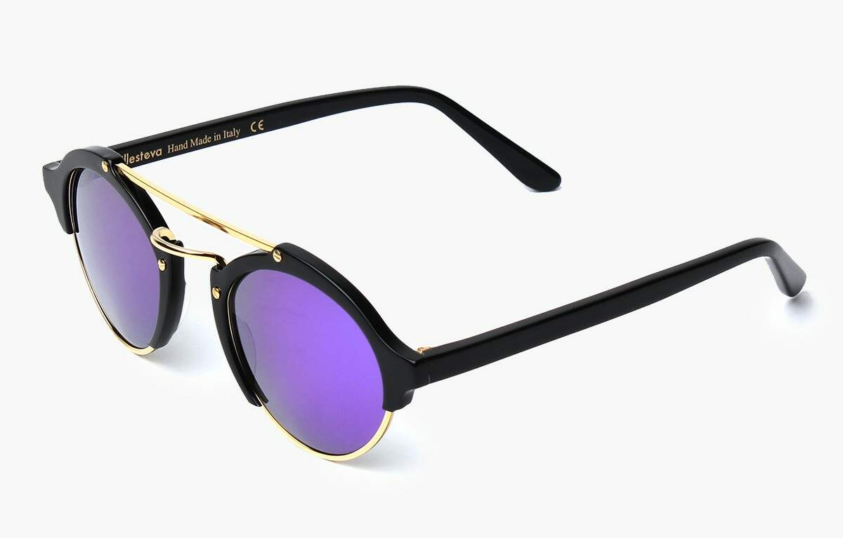 Milan Black with Berry Mirrored Lenses