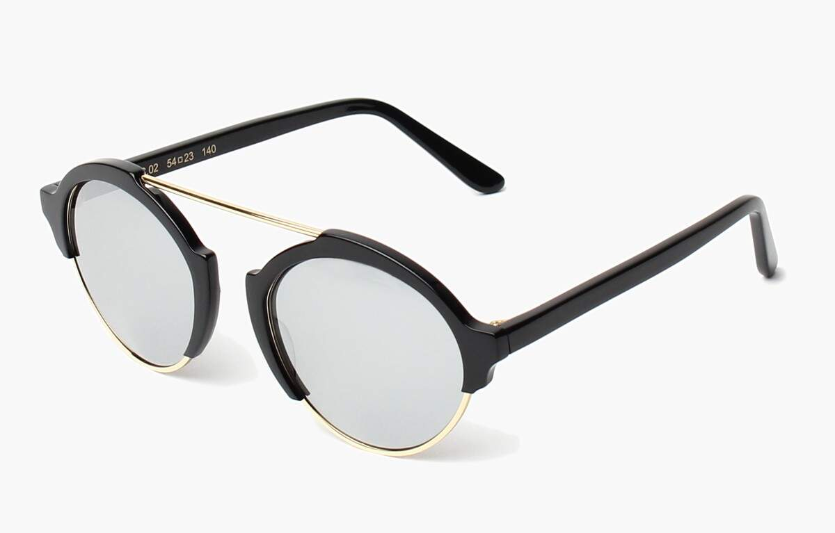 Milan III Black with Silver Mirrored Lenses