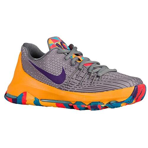 KD 8 Wolf Grey / Cool Grey / Blue Lagoon / Court Purple Infantil