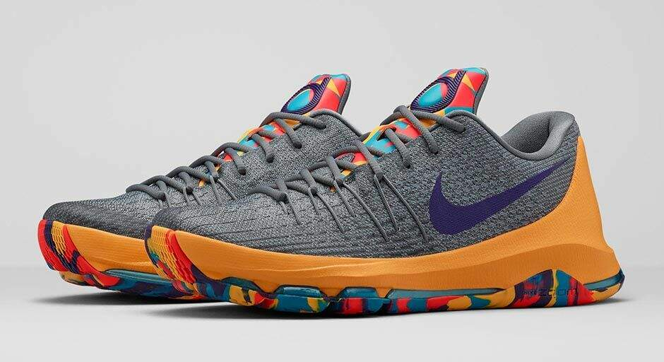 KD 8 Wolf Grey / Court Purple / Cool Grey / Blue La Masculino