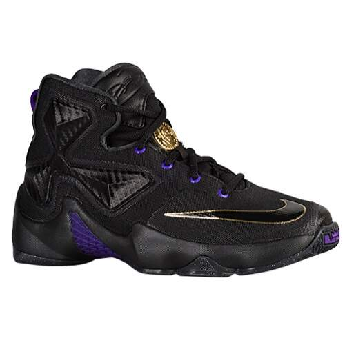 LeBron XIII Black / Black / Metallic Gold / Hyper Grape Infantil