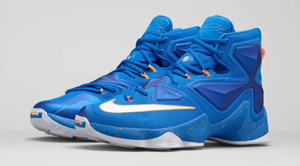 LeBron XIII Soar / White / Laser Orange / Total Orange Masculino