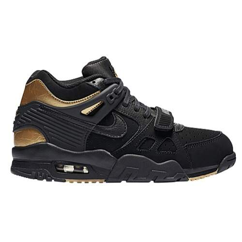 Air Trainer III Black / Black / Metallic Gold / Gum Medium Brown Infantil