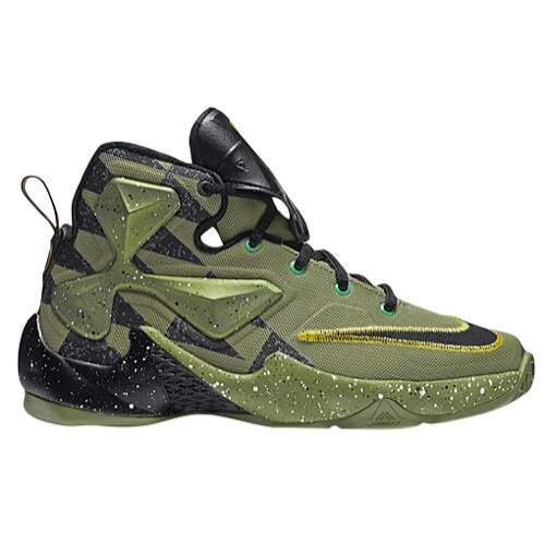 LeBron XIII Premium Alligator / Black / Lucky Green Infantil