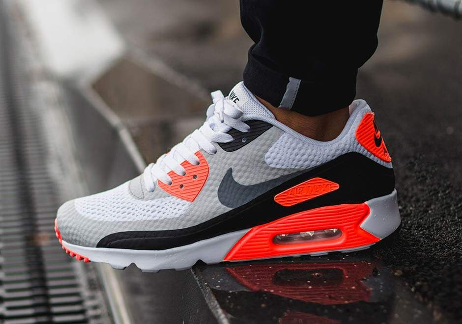 Air Max 90 Ultra White / Infrared / Black / Cool Grey Masculino
