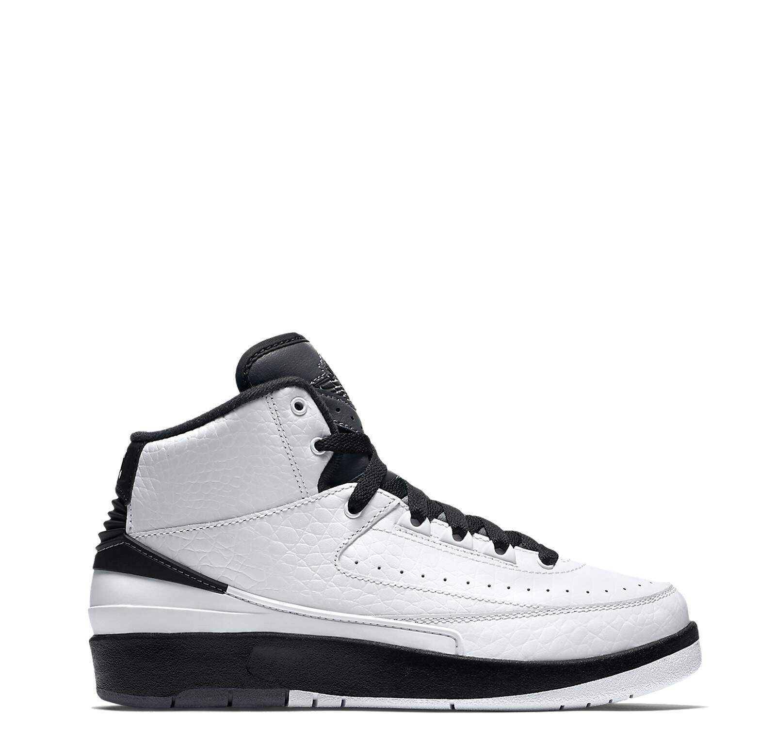 Jordan Retro 2 White / Black / Dark Grey Infantil