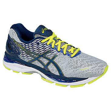 Gel Nimbus 18 Silver / Ink / Flash Yellow Masculino