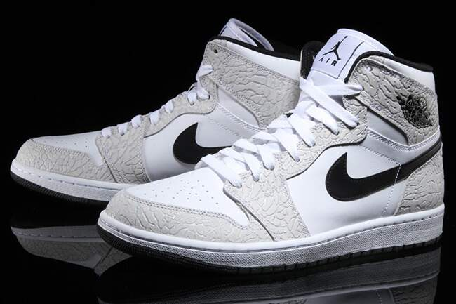 Jordan AJ 1 High White / Pure Platinum / Black Masculino