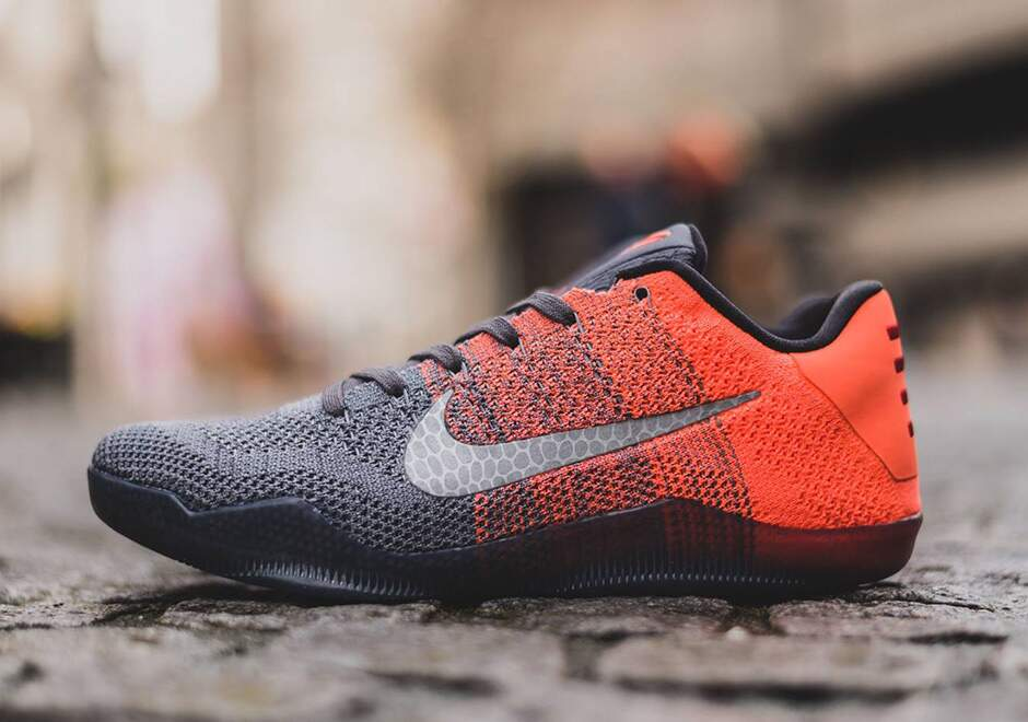 Kobe 11 Elite Low Dark Grey / Bright Mango / Cour Purple / Volt Masculino