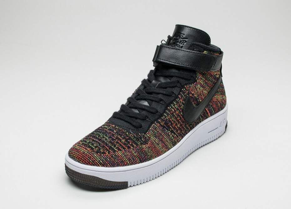 Air Force 1 Ultra Flyknit Mid Black / Bright Crimson / Court Purple / Volt Masculino