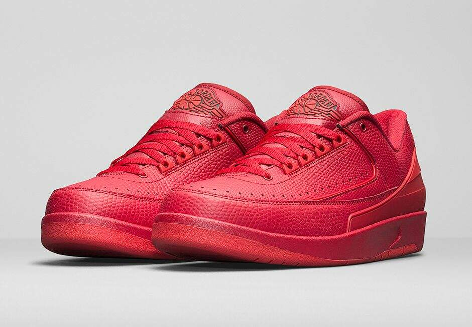 Jordan Retro 2 Low Gym Red / University Red / Hyper Turquoise Masculino