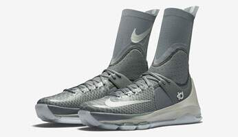KD 8 Elite Tumbled Grey / Lunar Grey / Vivid Orange Masculino