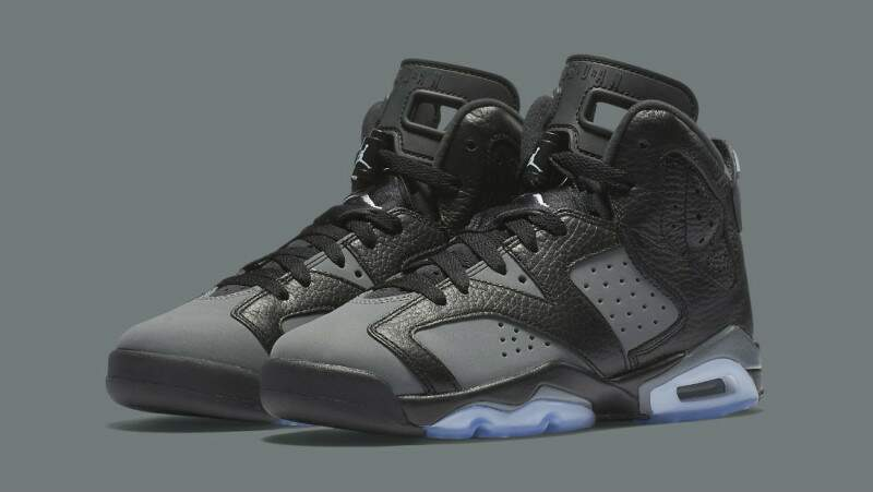 Jordan Retro 6 Black / White / Cool Grey Infantil