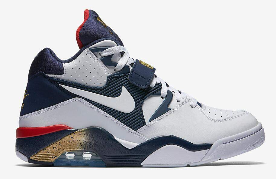 Air Force 180 White / Midnight Navy / Metallic Gold / White Masculino