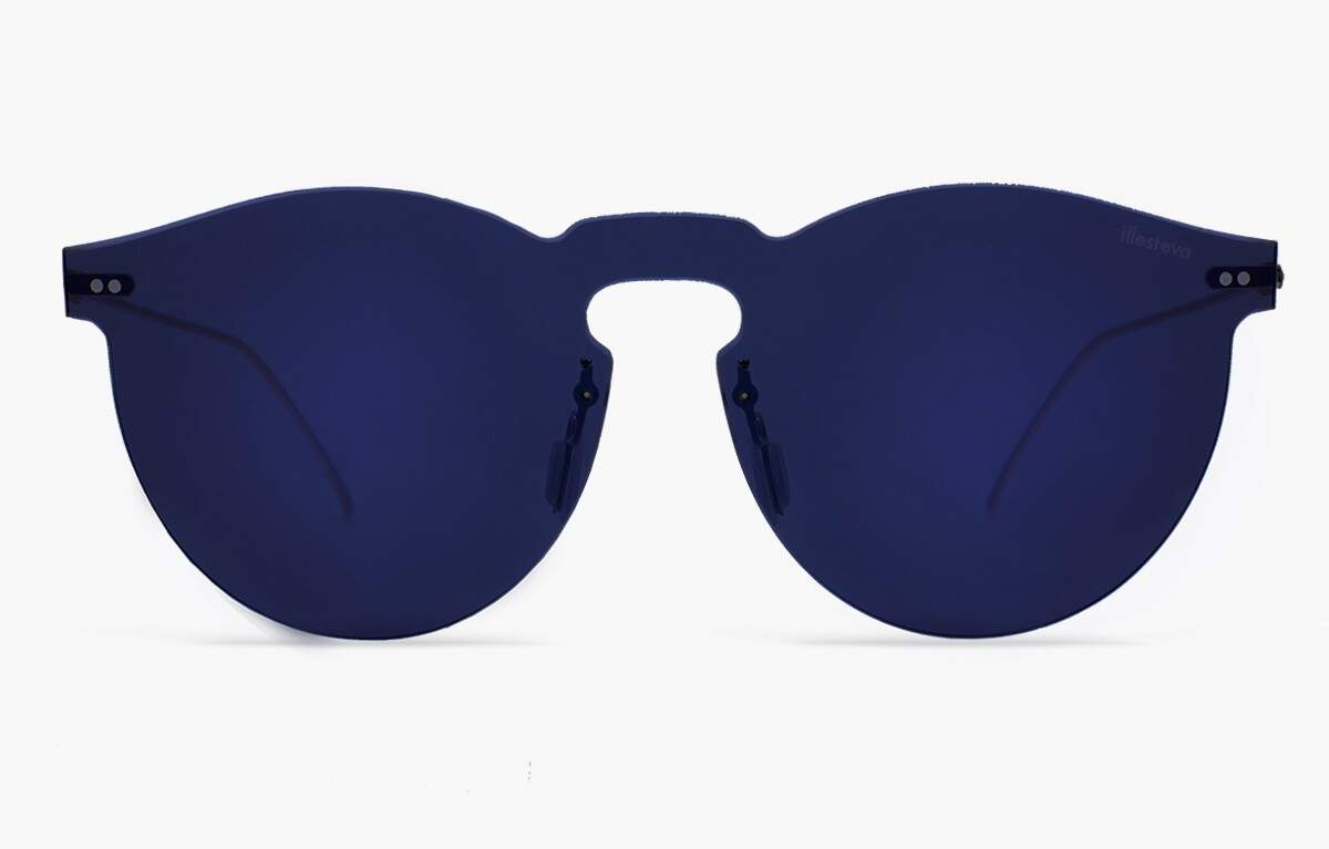 Leonard Mask with Midnight Blue Mirrored Lenses