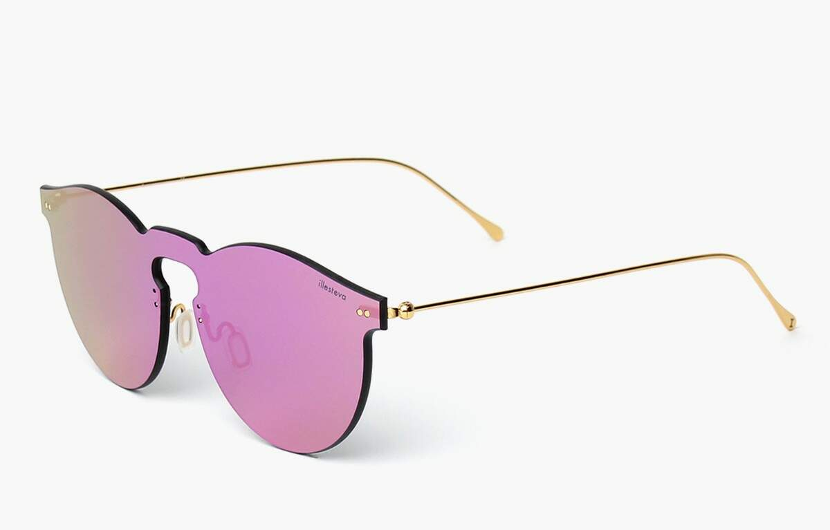 Leonard Mask with Pink Mirrored Lenses